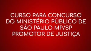 Banner curso para concurso MP SP
