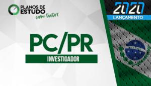 Plano de estudo para investigador - concurso PC PR