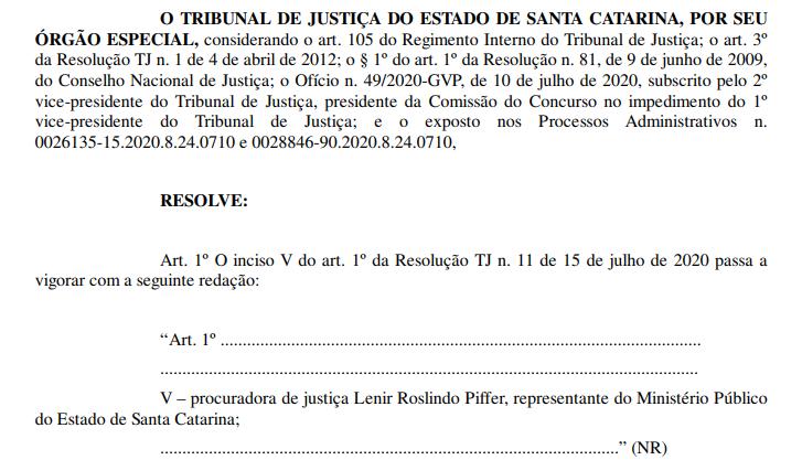 Alteração na Comissão do Concurso Cartório SC